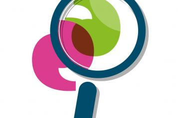 Graphic of the Healthwatch icon magnify glass