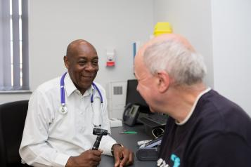 patient visiting a doctor